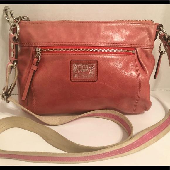 Coach Poppy Crossbody Pink Leather